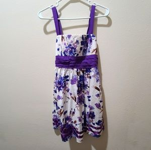 Taboo Purple and White Floral Dress - VINTAGE